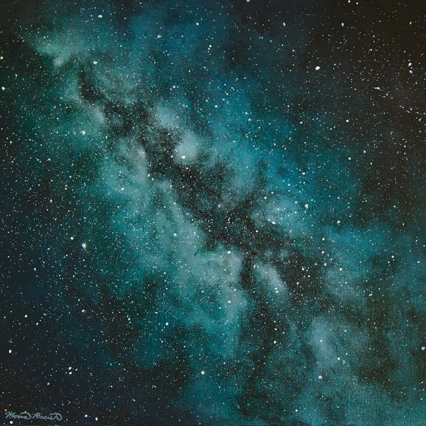 Painting of the Milky Way galaxy as seen from Earth