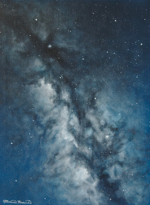 Painting of a galaxy (side view)