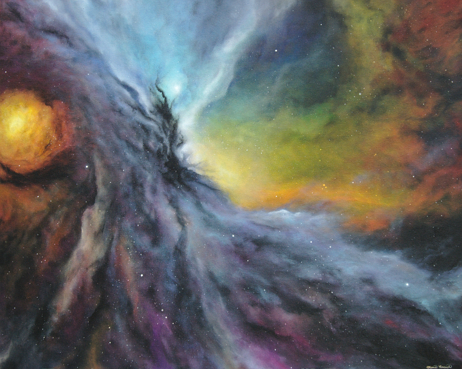 Painting of part of the Orion Nebula